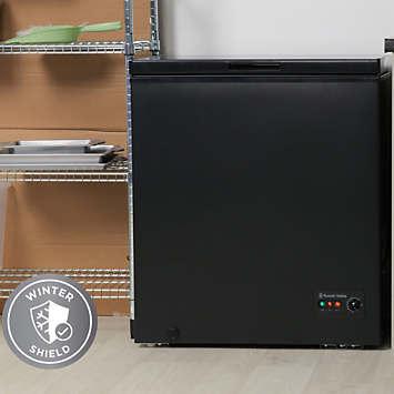 russell hobbs black 142l chest freezer rhcf142b grattan. Black Bedroom Furniture Sets. Home Design Ideas
