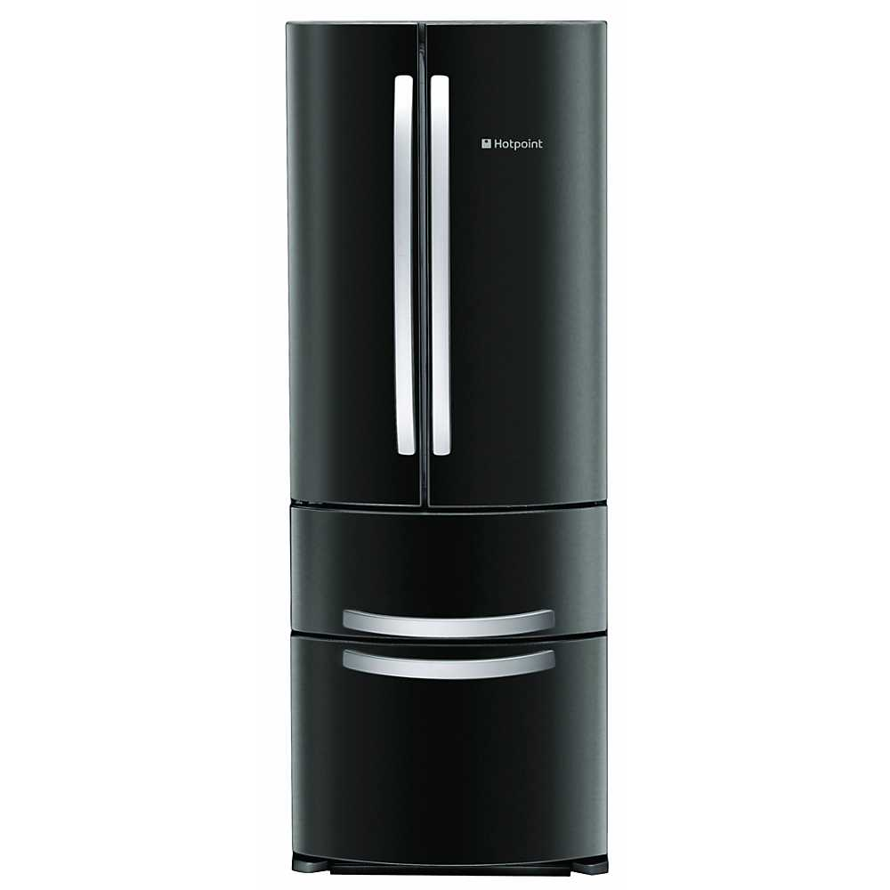 hotpoint black fridge freezer ffu4dk grattan. Black Bedroom Furniture Sets. Home Design Ideas